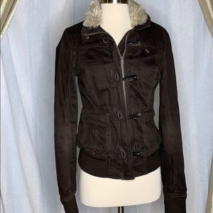 Abercrombie and finch toggle twill parka jacket
